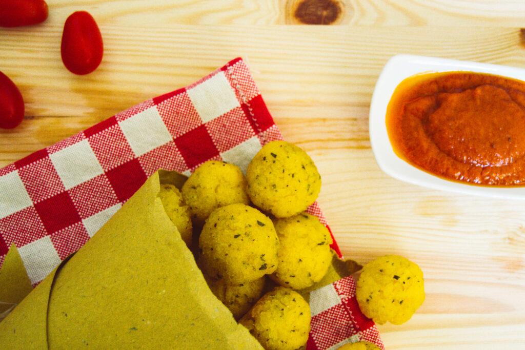 Cibo sano e vegetale: polpette di polenta - Green Ganesha